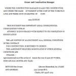 Construction Management Contract Form