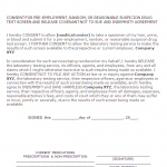 Drug Test Consent Form