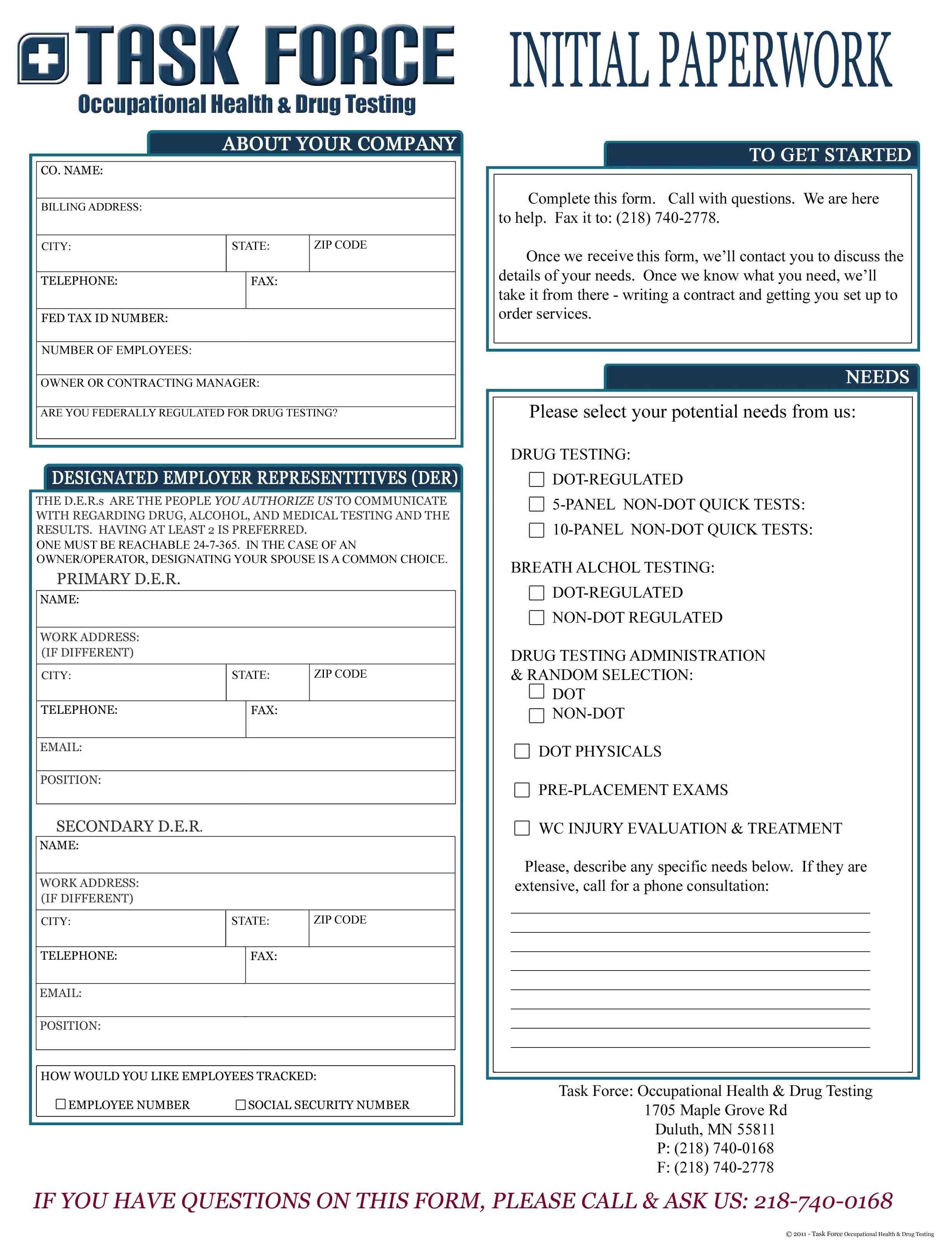 Drug Test Form Free Printable Documents