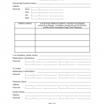 Emergency Medical Consent Form For Minors