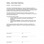 Employee Commission Agreement