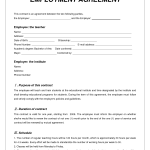 Employment Agreement Contract Template