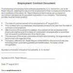 Employment Contract Document