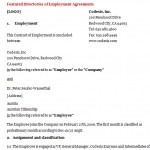 Employment Contract Sample Free