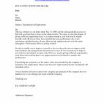 Employment Termination Letter