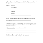 Free Lease Agreement Form
