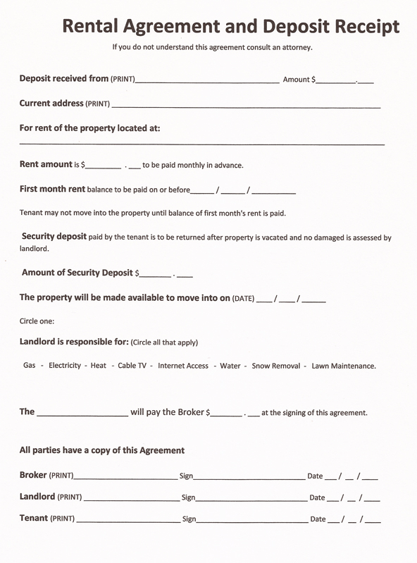 free printable form 1000  Free Printable Rental Agreement Forms - Free Printable Documents