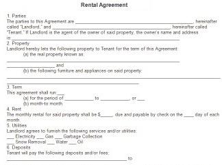 Free Printable Rental Agreement Forms Free Printable Documents