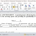 Free Will Document Template
