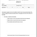General Affidavit Form