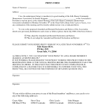 Hoa Proxy Form Template