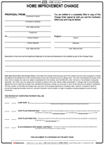Home Improvement Contract Free Printable Documents