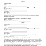 Home Repair Contract Template