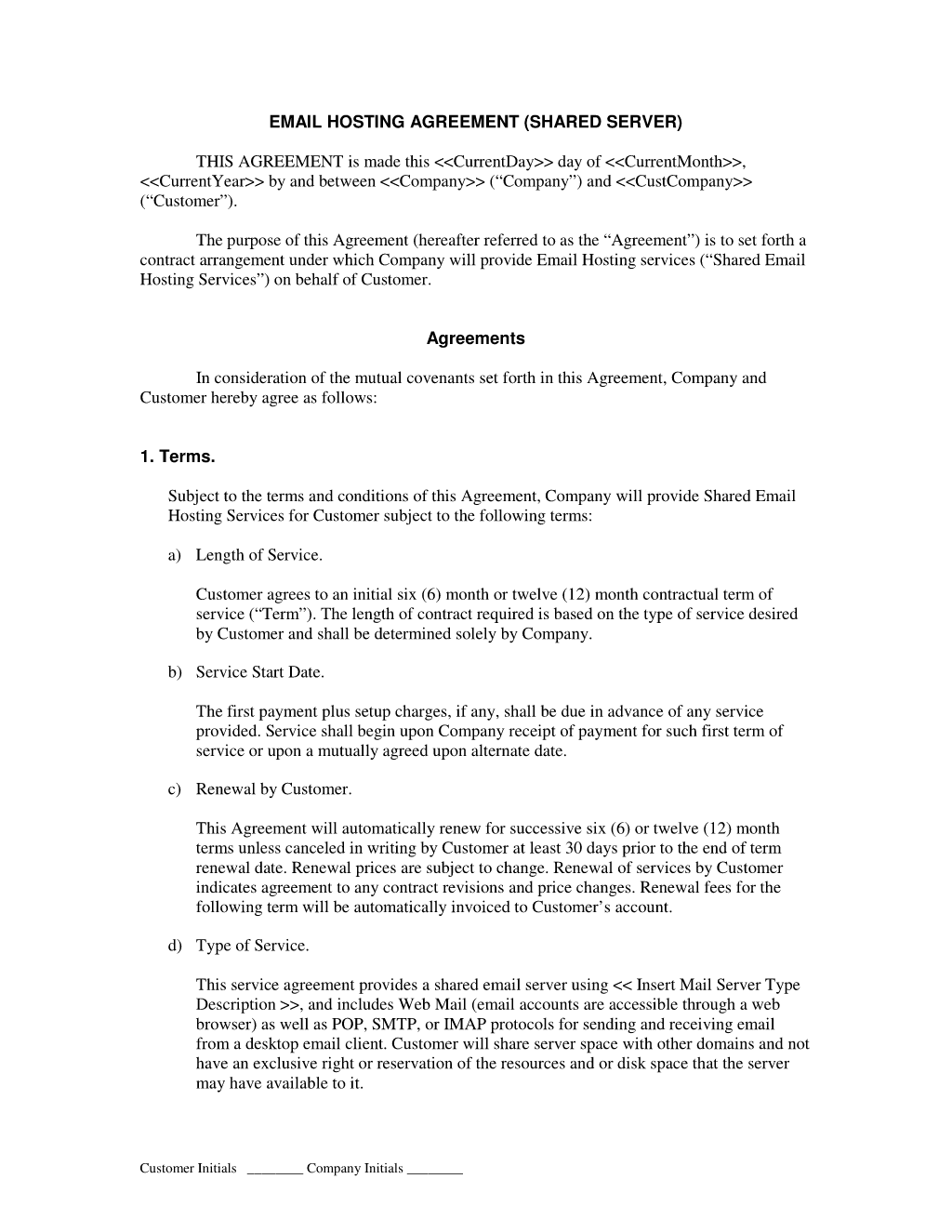 Web Development Service Level Agreement Template 28