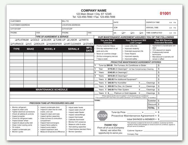 Hvac Maintenance Contract Sample Free Printable Documents