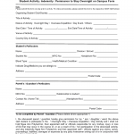 Indemnity Form