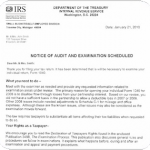 Irs Audit Letter Example
