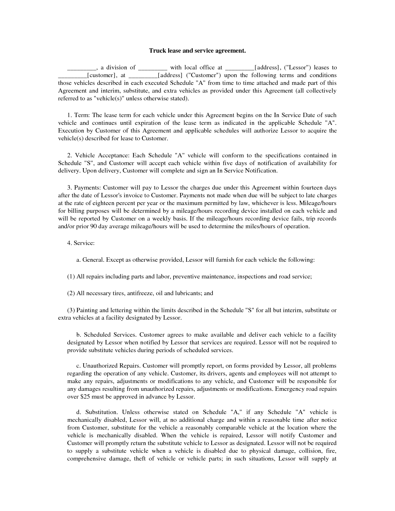 It Service Agreement Template Free Printable Documents