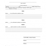 Last Will And Testament Templates