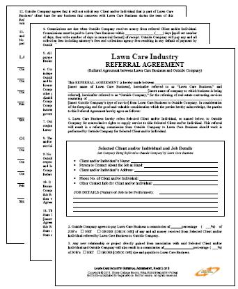 lawn maintenance contract agreement free printable documents