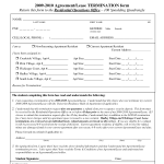 Lease Termination Agreement Form