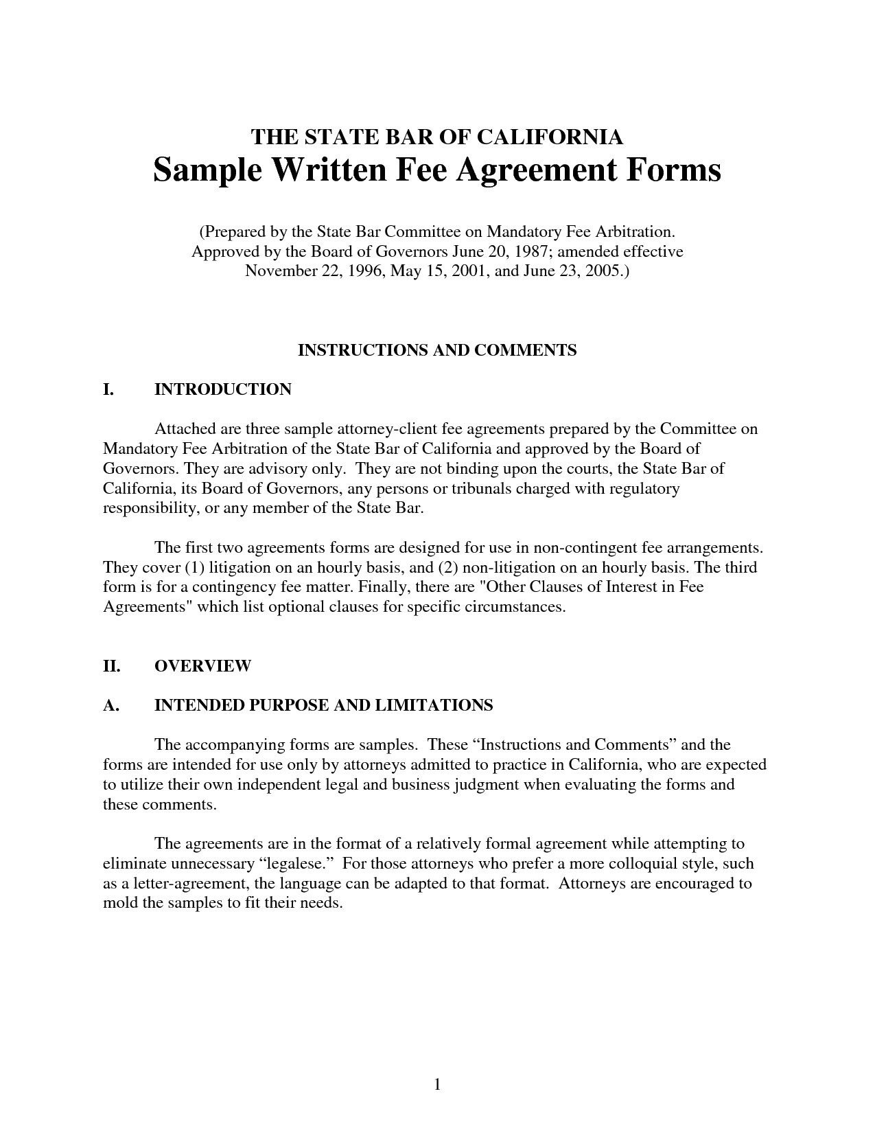 Legal Agreement Free Printable Documents