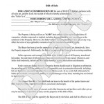 Legal Bill Of Sale