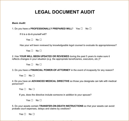 legal document free printable documents