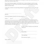 Letter Of Affidavit