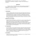 Letter Of Agreement Sample