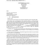Letter Of Demand Sample