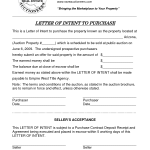 Letter Of Intent Real Estate Purchase