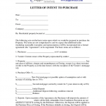 Letter Of Intent To Purchase Property