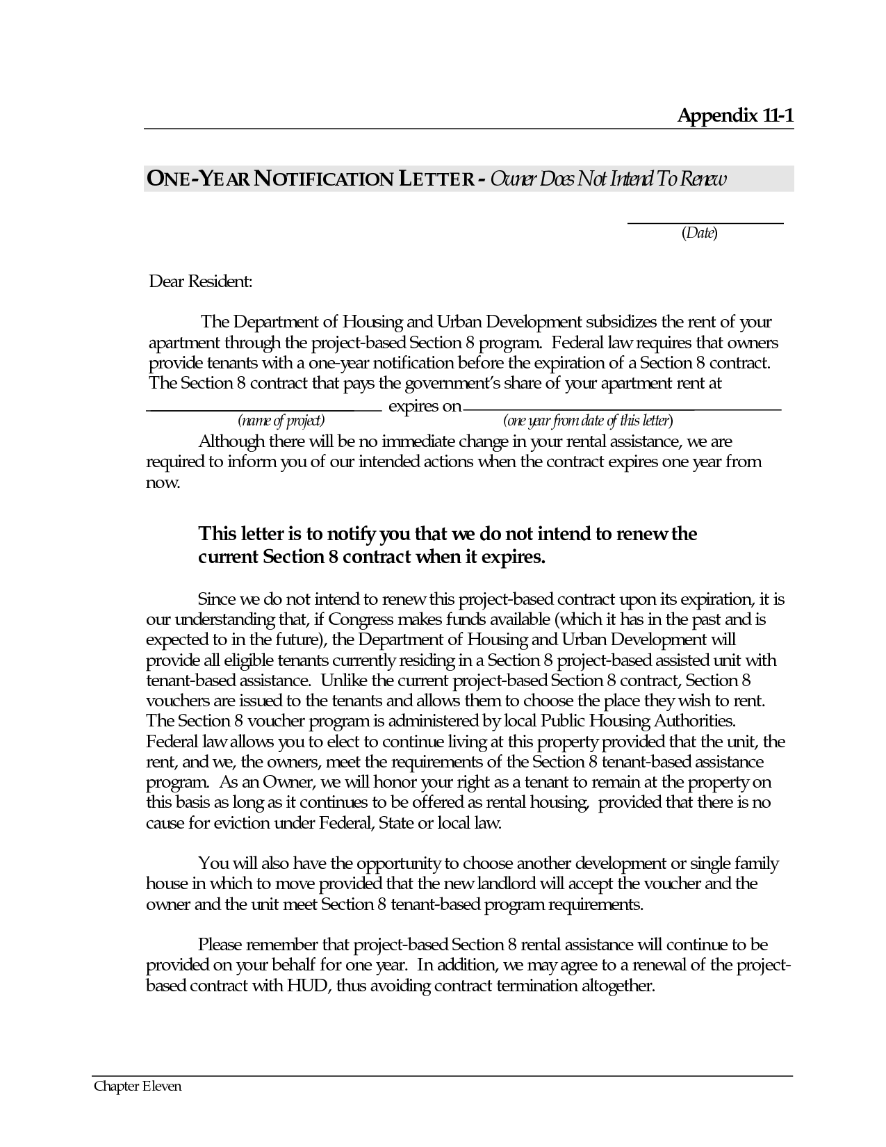 Auto Bill Of Sale Template >> Letter Of Not Renewing Lease - Free Printable Documents