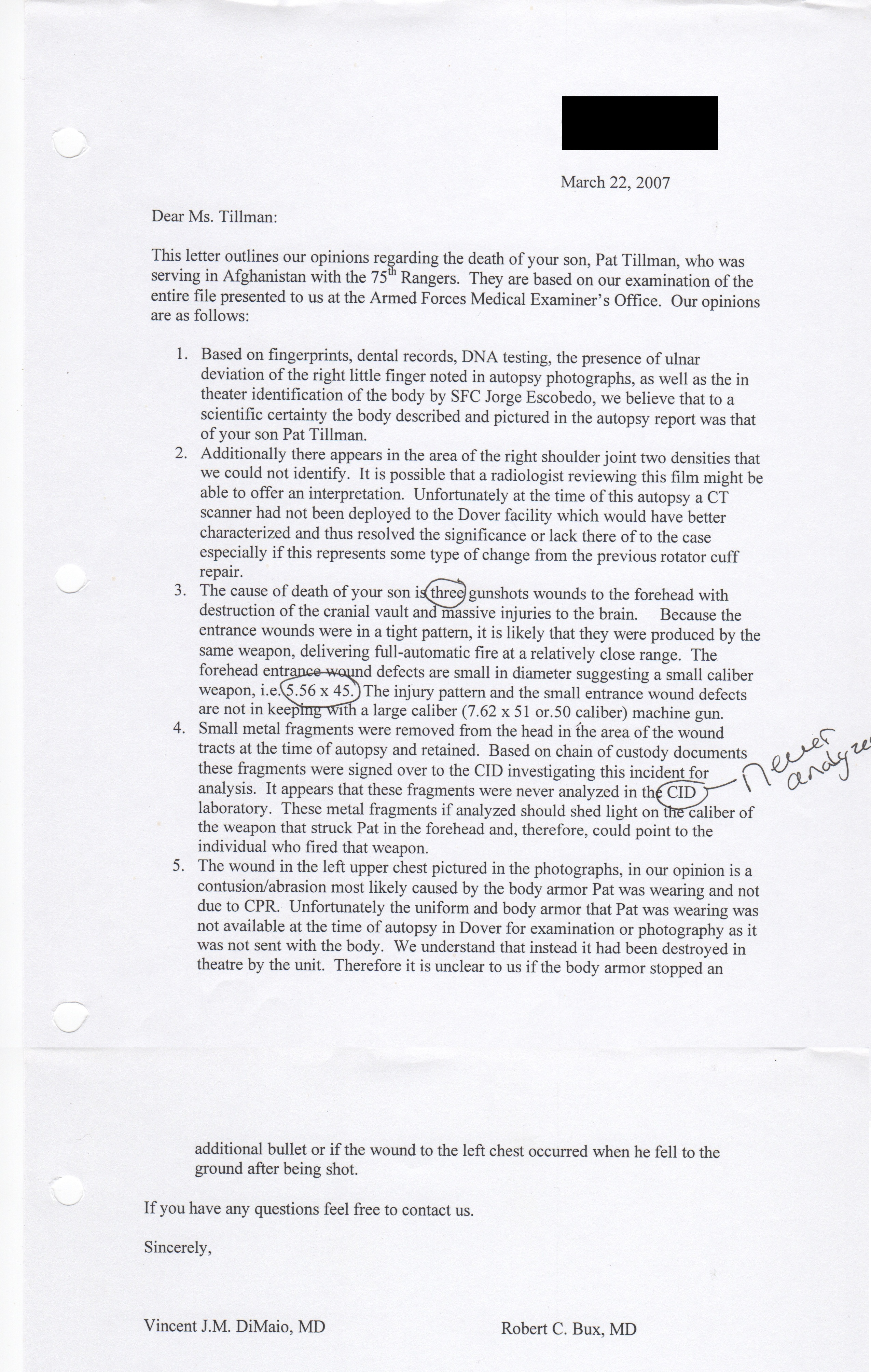Letter Of Testimony Death