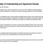 Letter Of Understanding Template