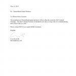 Letter Of Warranty
