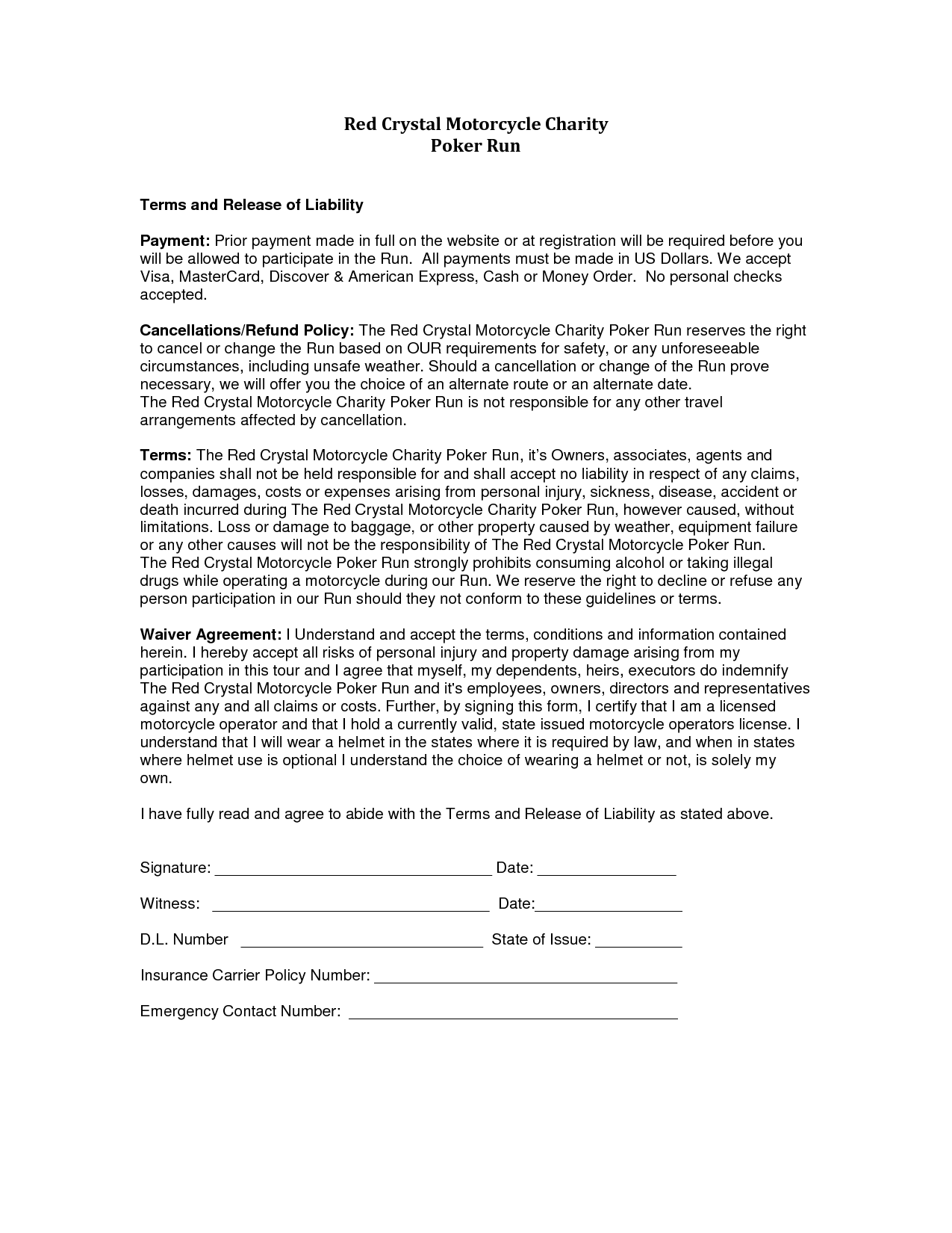 release from liability form template liability release form template free printable documents