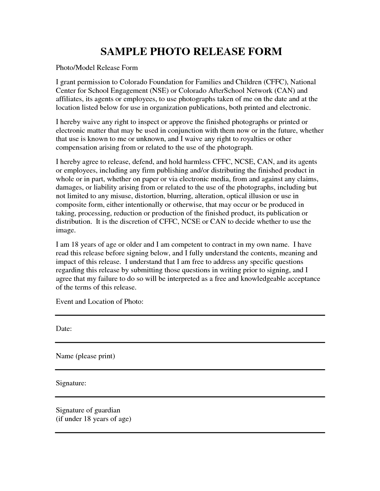 Liability release form template free printable documents for Waiver of responsibility template