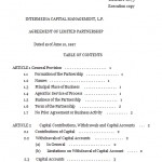 Limited Partnership Agreement Sample