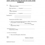 Marriage Affidavit Template