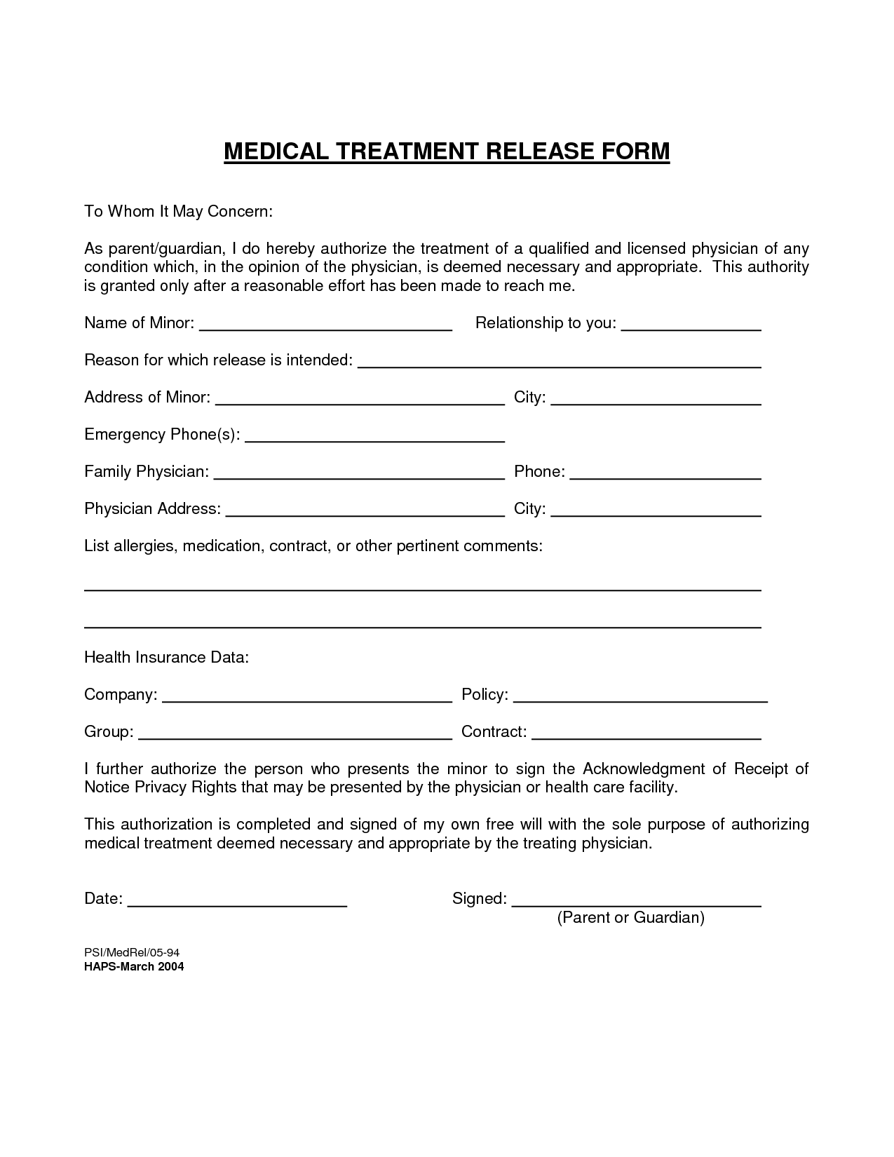 It is a photo of Divine Free Printable Medical Release Form