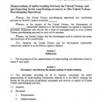 Memorandum Of Understanding Sample