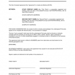 Non Compete Agreement Sample Form