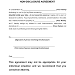 Non Disclosure Agreement Sample