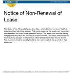Nonrenewal Of Lease Letter