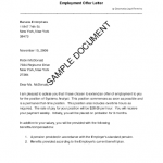 Offer Employment Letter