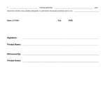 Parental Consent Form For Medical Treatment