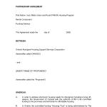 Partnership Agreement Sample