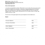 Payment Contract Template